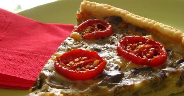 Как приготовить пирог с помидорами и баклажанами