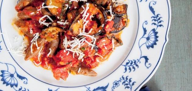 Итальянская кухня. Рецепт: Паста с рикоттой и баклажанами (фото)