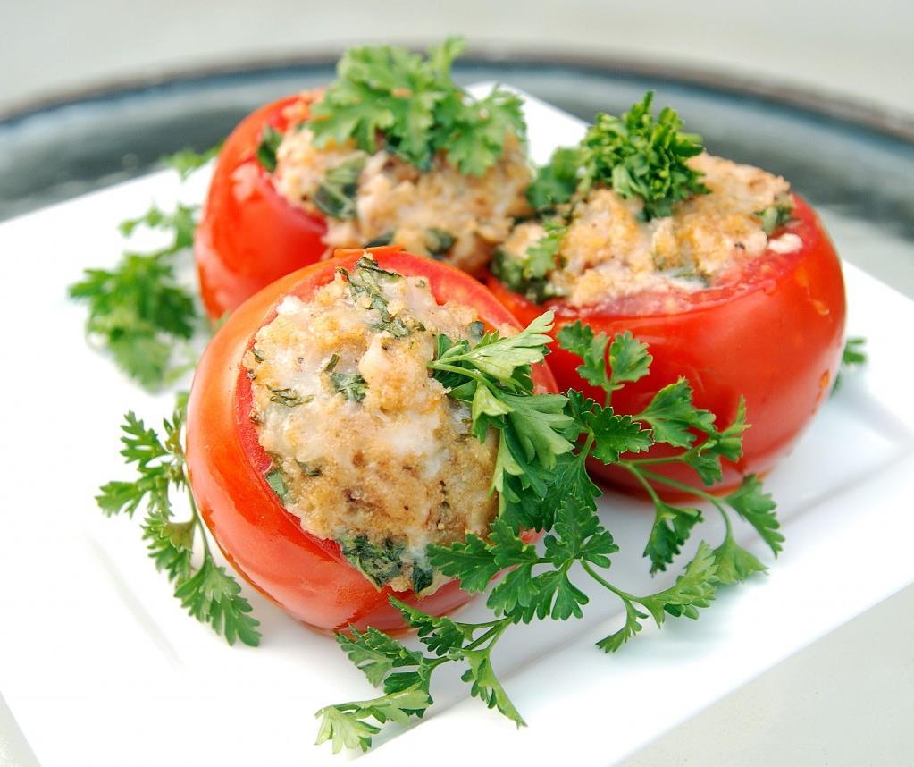 Помидоры. фаршированные мясом рецепт