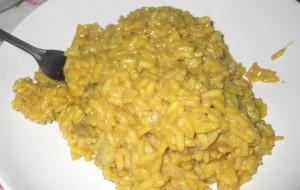 Ризотто с белыми грибами, шафраном и сливочным сыром