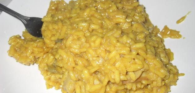 Итальянская кухня. Рецепт: Ризотто с белыми грибами, шафраном и сливочным сыром (фото)