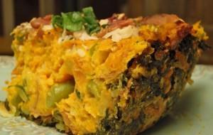 Рыбный пирог с овощами и картофелем для детей
