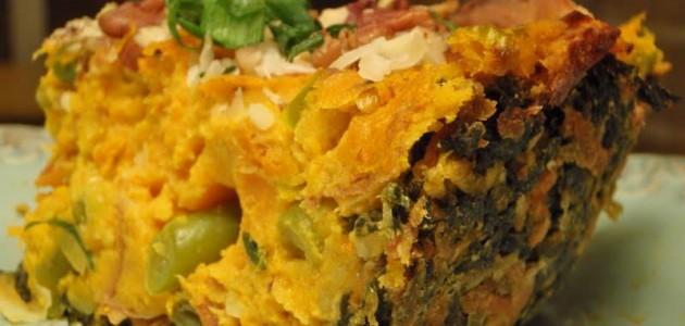 Итальянская кухня. Рецепт: Рыбный пирог с овощами и картофелем для детей (фото)