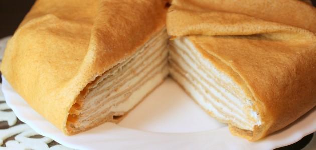 Итальянская кухня. Рецепт: Сметанный блинный торт (фото)