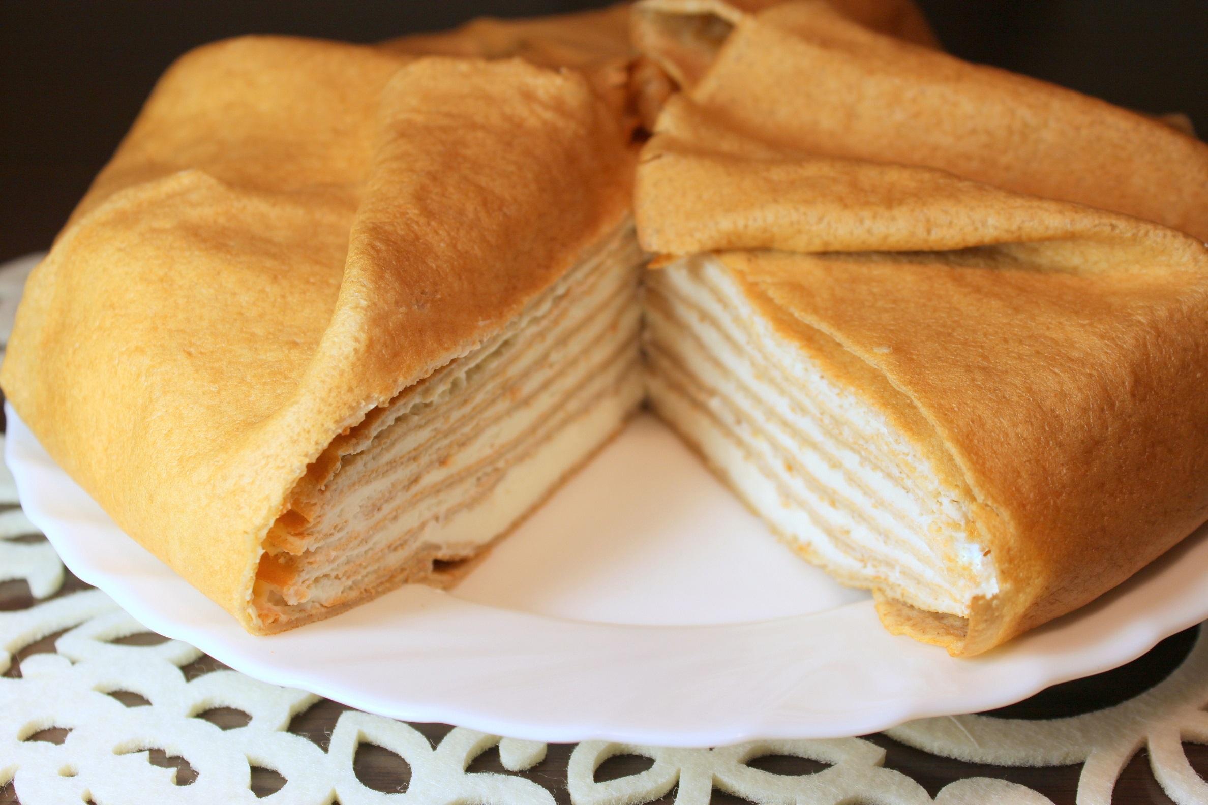 Вкусный блинный торт рецепт пошагово в домашних условиях