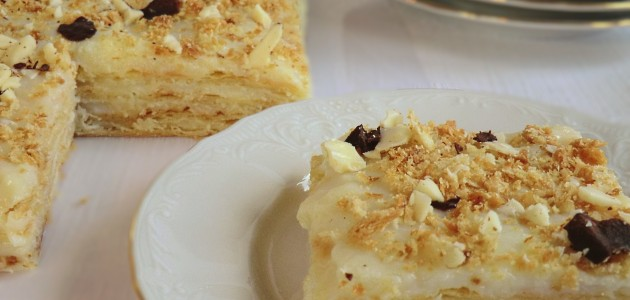 Итальянская кухня. Рецепт: Как приготовить домашний торт «Наполеон» (фото)