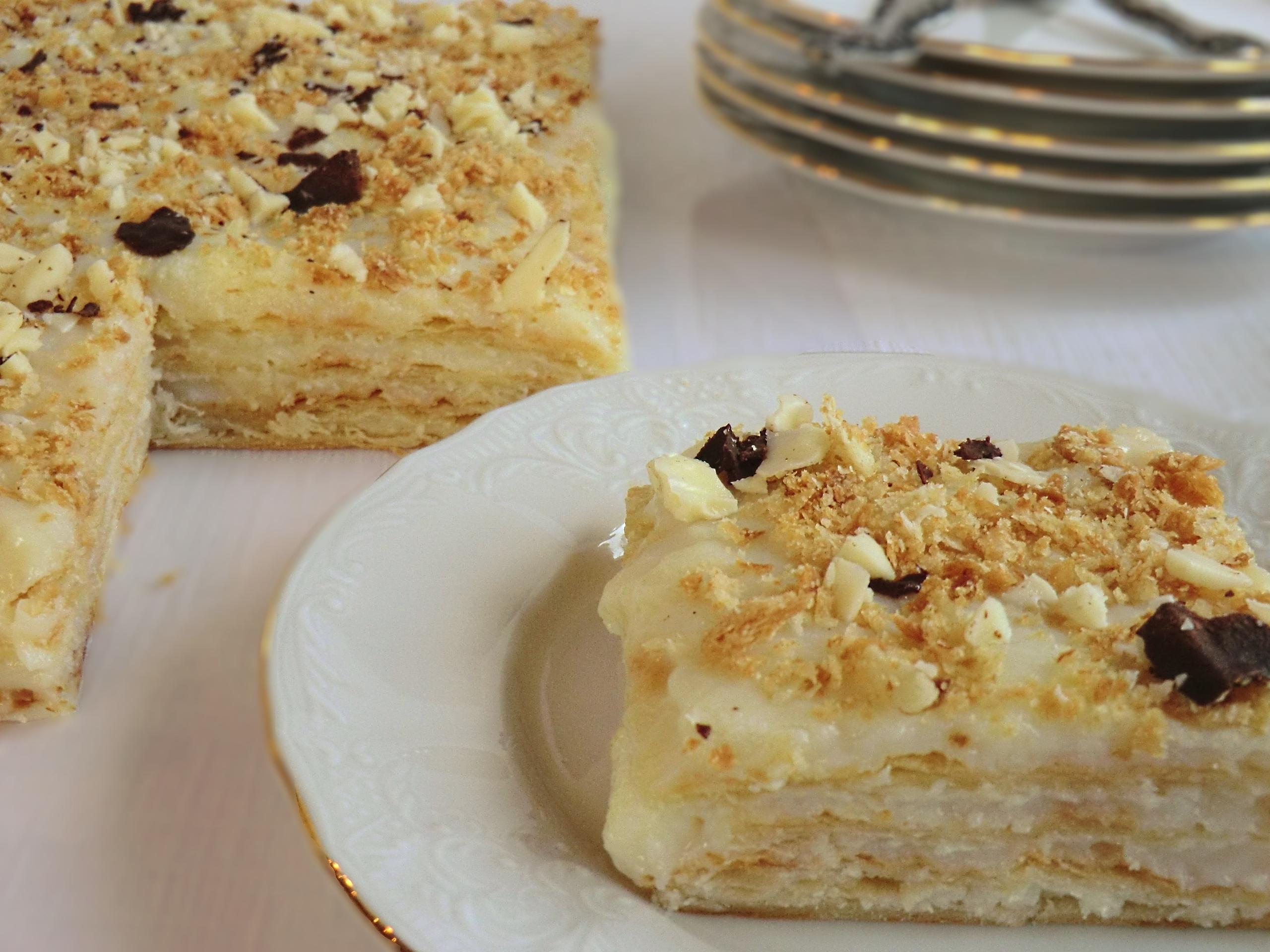 Торт Наполеон в домашних условиях - рецепт с фото 71