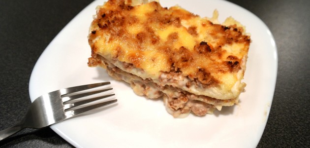 Итальянская кухня. Рецепт: Мясная лазанья с томатами черри, приготовленная при помощи блендера. Пошаговый рецепт с фото (фото)