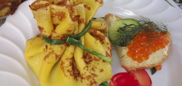 Итальянская кухня. Рецепт: Вкусные блинные мешочки на праздничный стол (фото)