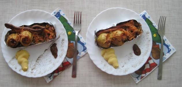 Итальянская кухня. Рецепт: Картофель с начинкой (фото)