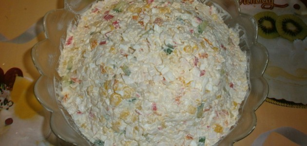 Итальянская кухня. Рецепт: Салат из крабовых палочек рецепт классический (фото)