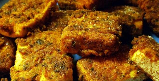 Сыр тофу жареный
