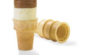 Мороженое цилиндрическое покрытое шоколадом