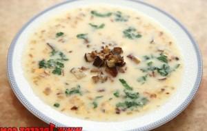 Итальянская кухня. Рецепт: Суп из опят (фото)